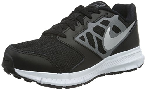 NIKE Boys' Downshifter 6 Running Shoe (GS/PS), Black/Metallic Silver/Cool Grey/White, 4 M US Big Kid