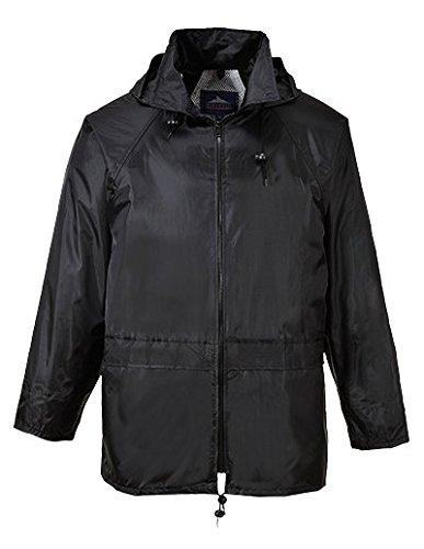 Rain Slickers For Women (Portwest Men's Classic Rain Jacket 4XL (Chest 56 - 58in) - Black)