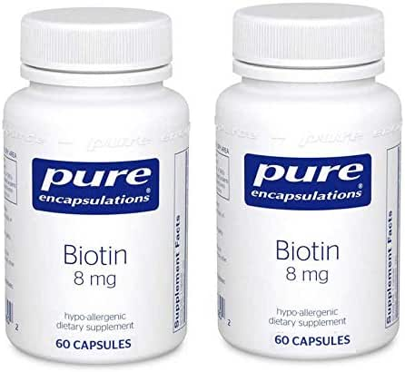 Pure Encapsulations Biotin Hypo-Allergenic Dietary Supplement 8 Milligrams - 60 Capsules (Pack of 2)