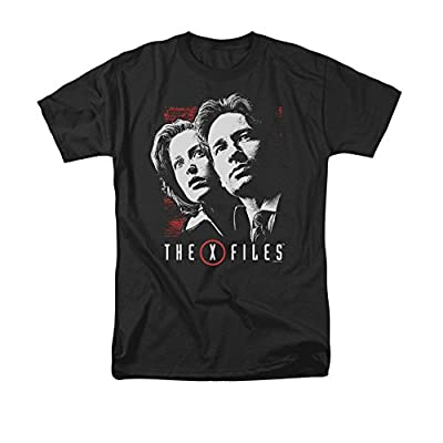 X Files Mulder & Scully Short Sleeve Shirt Adult