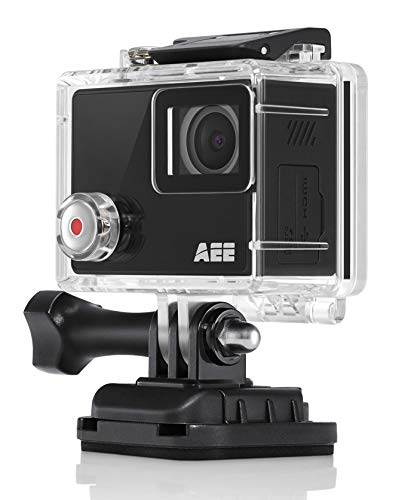 AEE Shadow 4K Action Camera with Touch Display Screen, 133 feet Waterproof Camera, Remote Control Sports Camera and Helmet Accessories Kit