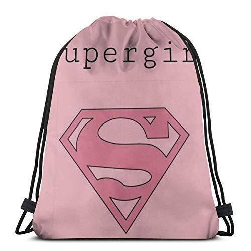 MPJTJGWZ Classic Drawstring Bag-Supergirl Gym Backpack Shoulder Bags Sport Storage Bag for Man Women