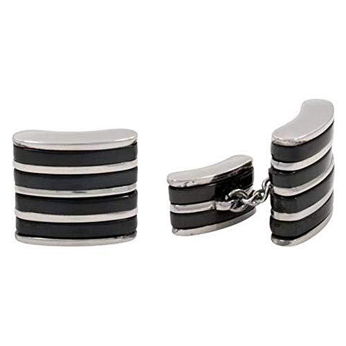 Cuff Links - Stainless Steel & Titanium Cufflinks Chain Design B ()