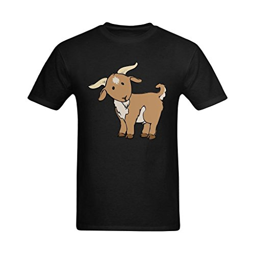 - Fashion-In Men's Cute Goat Clipart Free Clipart Images Design T-Shirt - Cool T Shirts US Size 2XL