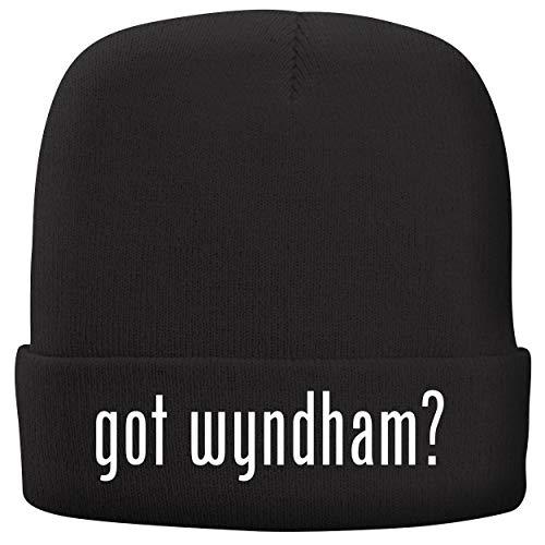 BH Cool Designs got Wyndham? - Adult Comfortable Fleece Lined Beanie, Black