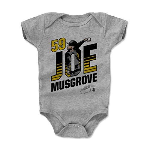 (500 LEVEL Joe Musgrove Baby Clothes, Onesie, Creeper, Bodysuit 3-6 Months Heather Gray - Pittsburgh Baseball Baby Clothes - Joe Musgrove Pitcher K)