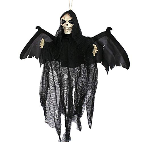BERTERI Halloween Sound Control Creepy Scary Animated Skeleton