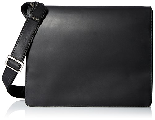 Visconti Visconti Leather Distressed Messenger Bag Harvard Collection, Black, One Size