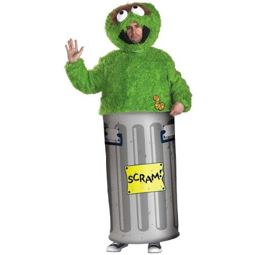 Oscar Sesame Street Costume (Oscar the Grouch Adult Costume - Medium)