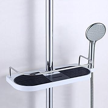 Hohe Verstellbar Edelstahl Dusche Caddy Badezimmer Pole Regal