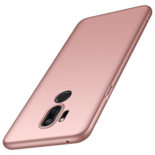 anccer Compatible for LG G7 ThinQ Case [Colorful Series] [Ultra Thin Fit] Premium PC Material Slim Cover for LG G7 (Rose Gold)