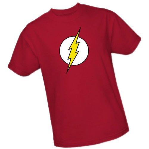 The Flash Logo -- DC Comics Youth T-Shirt, Youth Large