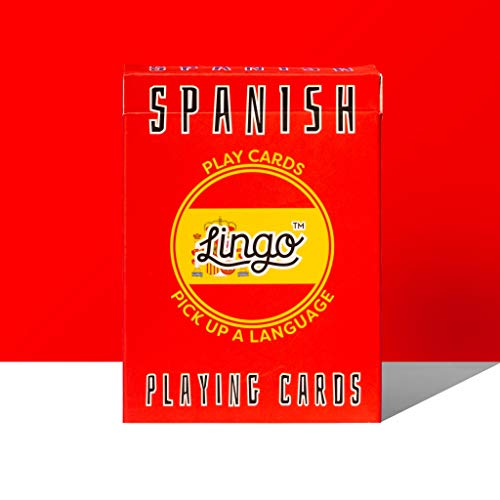 (Lingo Spanish Playing Cards   Language Learning Game Set   Fun Visual Flashcard Deck to Increase Vocabulary and Pronunciation Skills - 54 Useful Phrases)