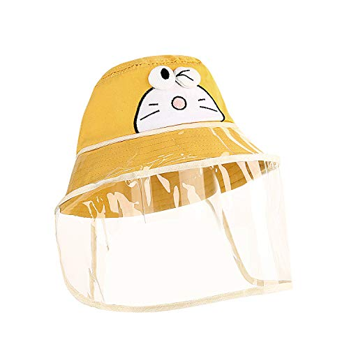 Baby Hat with Shield Bucket Sun Hat for 0-5 Years Old Baby with Transparent Bezel for Dustproof Windproof Sun