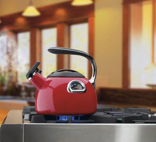 Cuisinart PTK-330R PerfecTemp Porcelain Enameled Teakettle, Red by Cuisinart (Image #1)