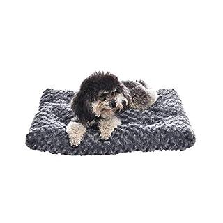 AmazonBasics Pet Dog Bed Pad, 29 x 21 x 3 Inch, Grey Swirl