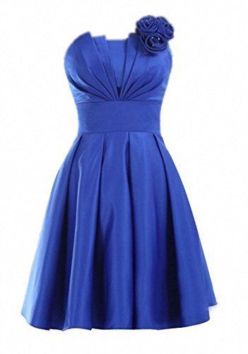 Kurz Strapless Kleider Blue Brautjungferkleider 2016 Teal Homecoming Satin Damen Royal Fanciest qSxT5tfw