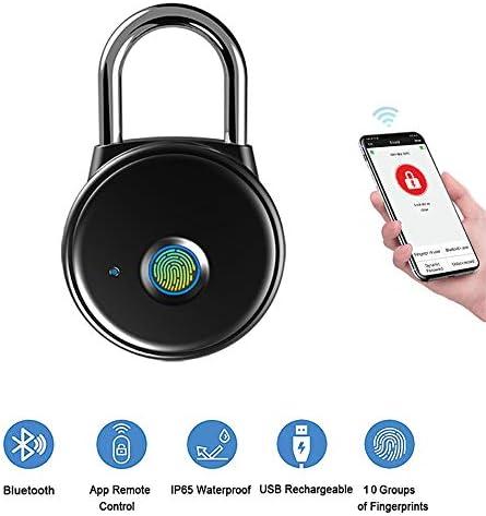 CX ECO Fingerabdruck-Vorhängeschloss Wiederaufladbares Anti-Diebstahl-Vorhängeschloss mit 39 Fingerabdrucksätzen Bluetooth und APPConnection für Koffer, Handtaschen, Schränke