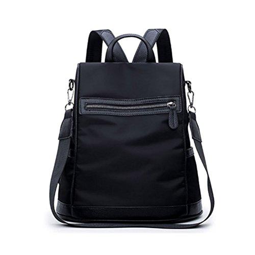 sac imperméable Noir à tout Fanshu Femmes sac main à dames Oxford sac à main Gris fourre sac dos 0Tfzwq