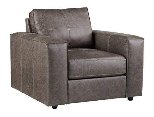 Cool Ashley Furniture Signature Design Trembolt Contemporary Leather Armchair Smoke Grey Short Links Chair Design For Home Short Linksinfo
