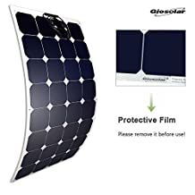 Giosolar 100W 12V high efficiency flexible monocrystalline solar PV panel for motorhome, caravan, camper, boat/yacht
