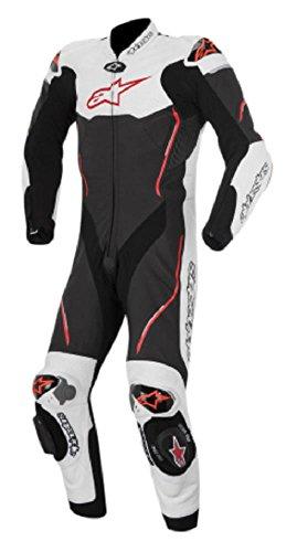 Alpinestars Atem Men's 1-Piece Street Motorcycle Race Suits - Black/White/Red / 52
