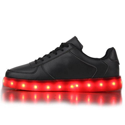 (Present:kleines Handtuch)JUNGLEST Blinkende Damen Sneakers High Led Light Fa Schwarz