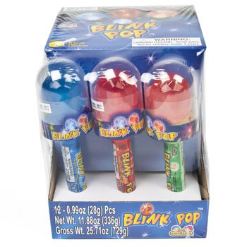 Set of 12 - Assorted Blink Pop Candies! Perfect for Movie Night, Feild Trips, Road Trips and More!
