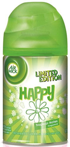 Air Wick Freshmatic Limited Edition Ultra Automatic Room Spray Fragrance Refill ~ Happy Tropical Notes Airwick 6.2oz (Quantity 1)
