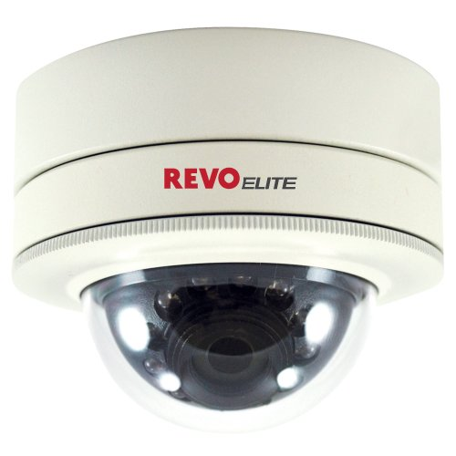 REVO America REVDM700-2 REVO America Elite 700 TVL Indoor/Outdoor Mini Vandal Proof Dome Surveillance Camera (White) ()