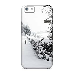 Cute Appearance Cover/tpu MfV17662rgtX Beautiful Country Road In Winter Case For Iphone 5c