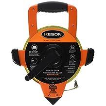 Keson OTRS1810200 200-Feet Open Reel Fiberglass Tape Measure with Speed Rewind
