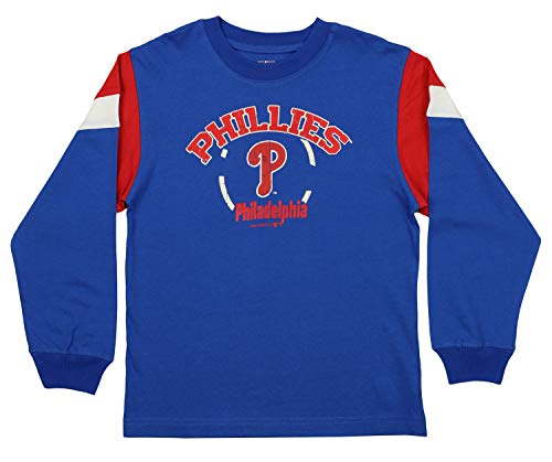 - Outerstuff MLB Youth's Philadelphia Phillies Long Sleeve Tee, Blue Large (10-12)