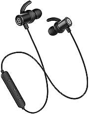 Cuffie Wireless Bluetooth 5.0 SoundPEATS Q12PLUS Auricolari Bluetooth Sportivo senza Fili Antirumore Magnetiche con Microfono Durata a 9 Ore Compatibili Android/ios per Allenamento,Jogging, Fitness