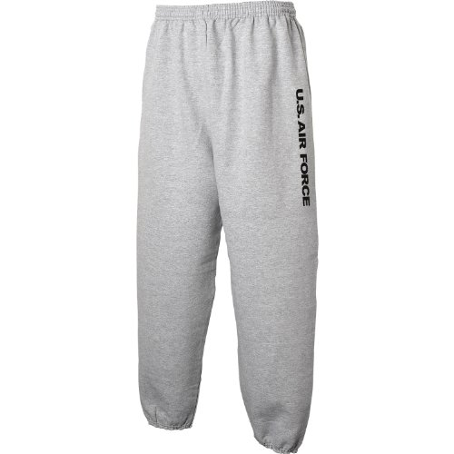 Air Force Sweat Pants - Military Style Physical Training Sweat Pants in Gray - Large