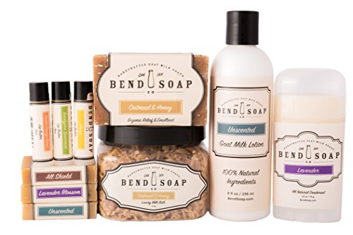 Bend Soap Company All Natural Best Seller Bundle A Great Gift for Yourself or Someone Else Goat Milk Soap, Bath Soak, Lotion, Deodorant and Lip Balm in One Convenient Package