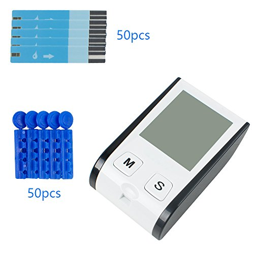 Enshey-Glucose-Monitor-Glucometer-Blood-Glucose-Monitor-Diabetes-Test-Meter-Kit-With-50-FREE-test-stripsLancets