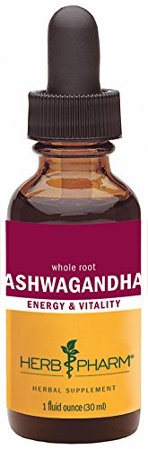 Herb Pharm Certified Organic Ashwagandha Extract for Energy and Vitality - 1 Ounce
