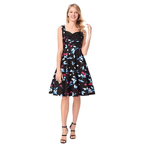 Kleid Florals V-ausschnitt Der Frauen Dres Tragen Frau Sommer Frühling Raffiniertes Und Linie High Schickes - Rise Blue Tägliches Herbst Street A