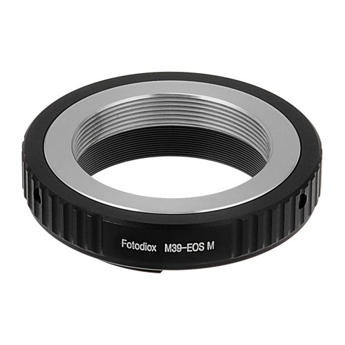 M39 Body - Fotodiox Lens Mount Adapter - M39/L39 Screw Mount SLR Lens to Canon EOS M (EF-M Mount) Mirrorless Camera Body