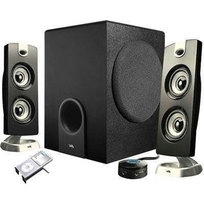 Cyber Acoustics 2V43791 Platinum CA-3602 2.1 Speaker System - 30 W RMS by Cyber Acoustics