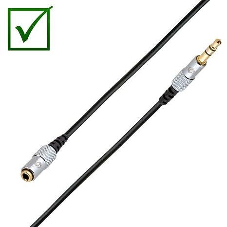 Fisual S-Flex Mini - Cable alargador con conector jack de 3,5 mm (4 m, macho a hembra) [Importado de Reino Unido]
