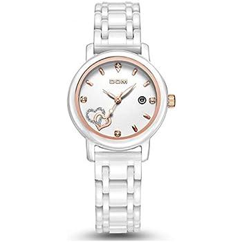 Sheli Women Luxury Watches Waterproof Quartz Watch White Ceramic Nurse Wedding Watch Reloj Mujer