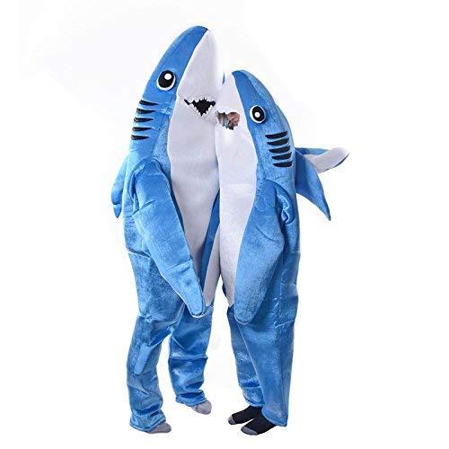 Dastrues Moderno Adulto Infantil Mono Cosplay Traje Tiburón Stage Ropa Disfraz de Halloween Navidad Props - Adulto, Small