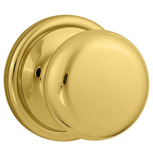 Kwikset Hancock Half-Dummy Knob in Polished Brass
