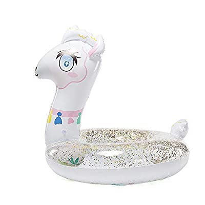 Happytime Cute Inflatable Llama Swim Ring Llama Pool Float Swimming Ring Summer Party Beach Toys for Toddles Kids: Toys & Games [5Bkhe0501554]
