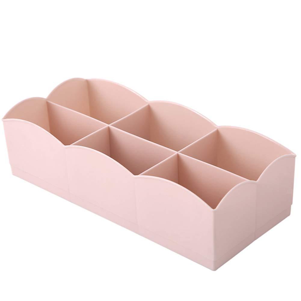 6/compartimentos Pl/ástico Caja Cajones Box/ /Caja para ropa interior calcetines organizador almacenaje 24.4/x 10.5/x 6/cm azul