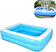 Akaho Family Inflatable Swimming Pools Thickened Family Pool for Children Adults, PVC Folding Durable Swim Cen