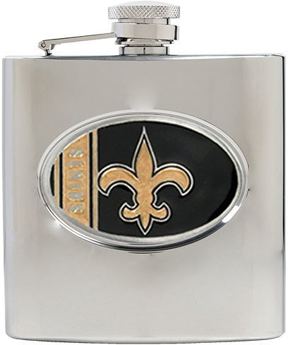New Orleans Saints NFL 6oz Stainless Steel Hip Flask SKU-PAS1045365