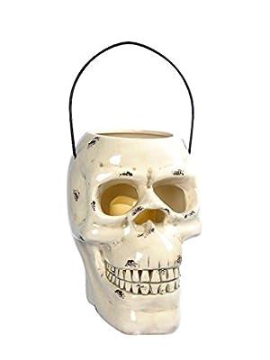 Lightahead Halloween Decoration Light Skull Lantern, Outdoor Garden Light